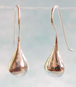 Wholesale earring catalog, sterling silver hook earring water-drop shape design