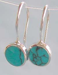 Wholesale turquoise earring, sterling silver jewelry manufactuer