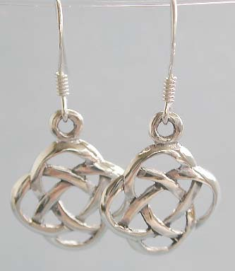 Wholesale sterling silver earring, Celtic knot work manufacturer