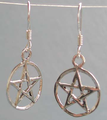 Wholesale designers fashion jewelry, Wicca sterling silver earring with fish hook