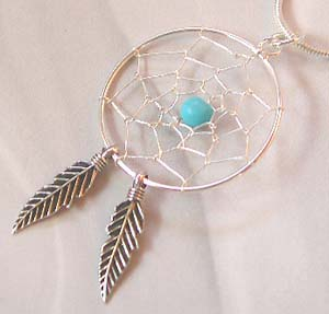 Wholesale western jewelry, wholesale dreamcatcher sterling silver pendant