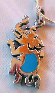 Wholesale child jewelry supplier wholesale turquoise elephant pendant