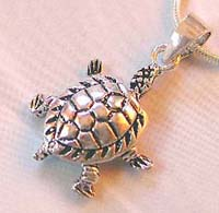 Silver jewelry charm supplier wholesale sterling silver turtle pendant