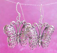 Wholesale butterfly jewelry, sterling silver hook earring, butterfly trend