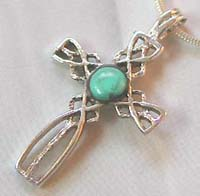 Wholesale religious jewelry wholesale celtic cross with turquoise